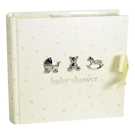 Baby Shower Photo Album by Baby Shower Gift Idea And Silver Baby Shower Photo
