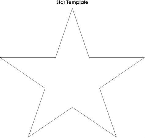 printable star outline related keywords suggestions for large printable star