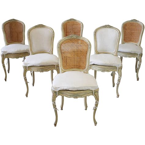 cane dining room chairs 19th century louis xv antique french cane dining chairs