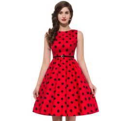 Audrey hepburn pinup polka dot plus size woman dresses vestidos from