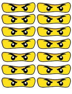 printable lego eyes free printable ninjago eyes nicky s 4th birthday party