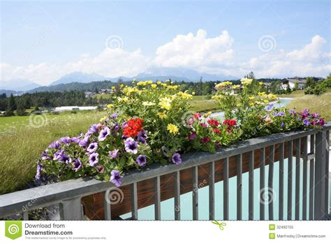 flowerbox deutschland flower box in the alps royalty free stock photo image