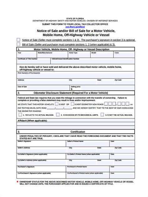 5 motor vehicle transfer forms free sle exle