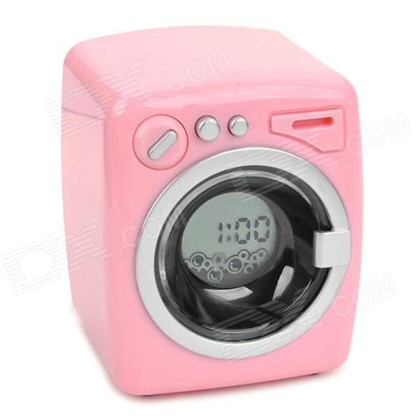 Cool Desk Clocks by Pink Cute Washing Machine Style Desktop Alarm Clock For Sale
