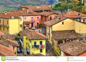 italian houses diano d alba italy stock photo image