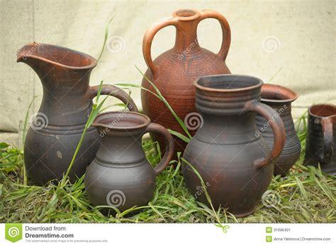 Handmade Clay Pots - handmade clay pots stock image image 31696401