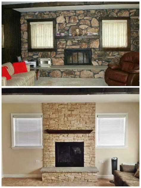fireplace makeovers before and after the world s catalog of ideas