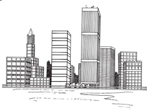 how to draw a cityscape in 5 steps beautiful outline images and galleries