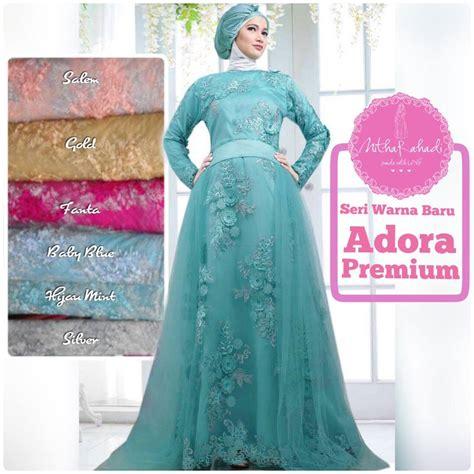 Bahan Tulle Prada Korea Gaun Dress Kebaya Harga Permeter gaun pengantin syar i outlet nurhasanah outlet baju pesta keluarga muslim page 4