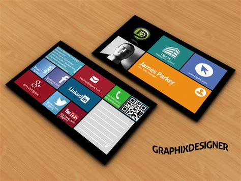 design social media or windows style business card fiverr