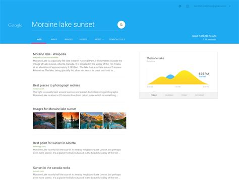 Or Not Search Designer Reimagines S Iconic Search Page With Material Design
