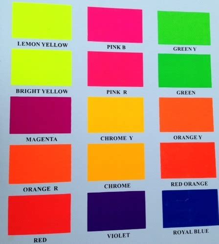 fluorescent colors fluorescent day glow safety paints vibrant coatings