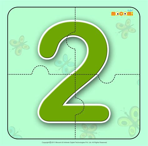 printable maths jigsaw puzzles numbers two 2 number jigzaw puzzles for kids mocomi