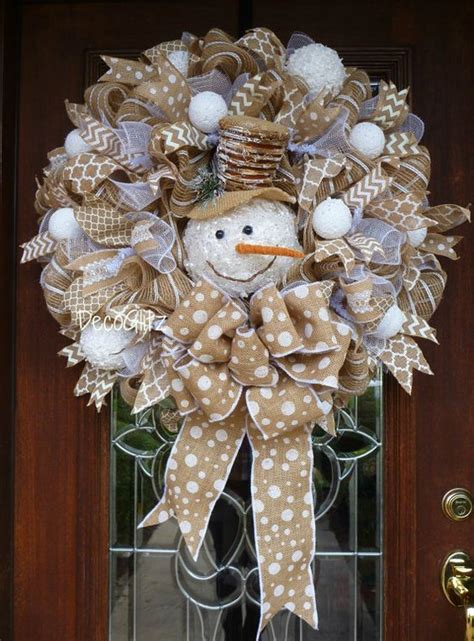 20 winter wreaths door decorations you can display all diy d 233 cor best ideas for christmas burlap wreath amelia