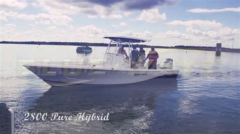 blue wave boats 2800 2800 purebay with canopy youtube