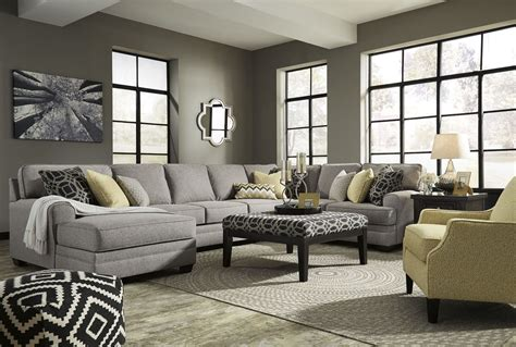 Large Sectional by Cresson Pewter Laf Large Chaise Sectional From