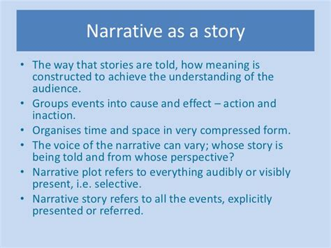 narrative as a story the