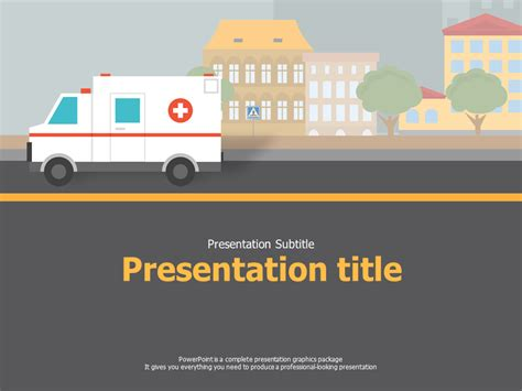 Ambulance Ppt Goodpello Ambulance Powerpoint Template
