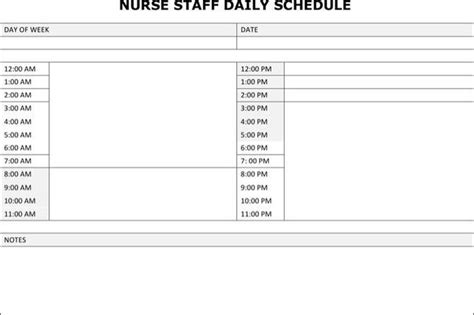 Schedule Template Download Free Premium Templates Forms Sles For Jpeg Png Pdf Word Nursing Schedule Template
