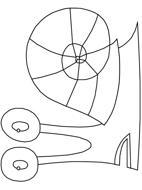 gary the snail coloring pages coloring home