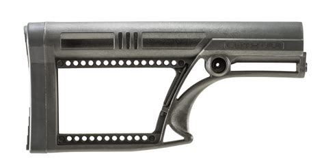 Luth Ar Mba 2 Skullaton Fixed Buttstock by Luth Ar Mba 2 Skullaton Rifle Buttstock Black