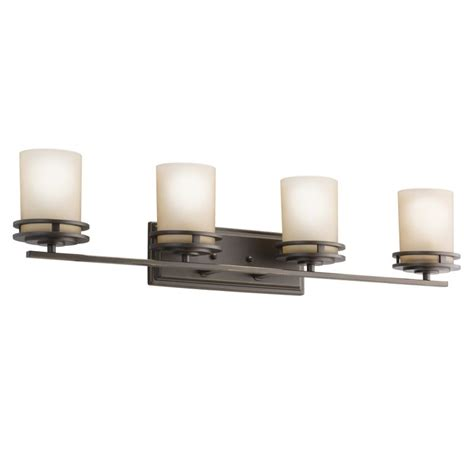 long bathroom light fixtures kichler 5079oz olde bronze hendrik 4 light 34 quot wide vanity