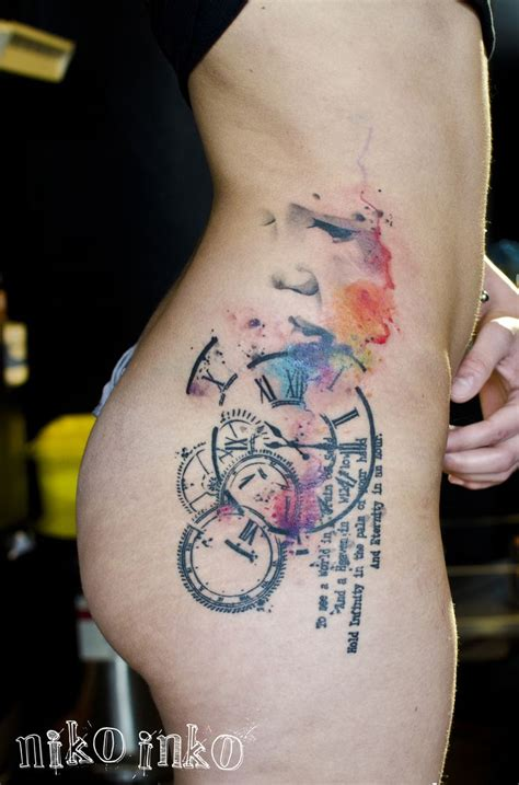 watercolor tattoo bayern 102 best timepiece tattoos images on