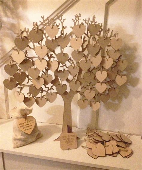 Vintage Garden Baby Shower wishing tree large wooden guest book by craft heaven