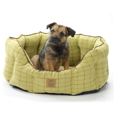 house of paws house of paws green tweed oval snuggle next day delivery house of paws green tweed