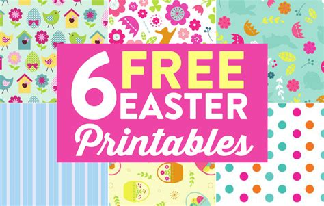 Easter Paper Crafts Free - 6 free easter printables paper craft