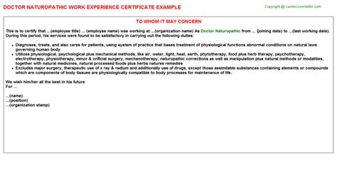 Work Experience Letter Gp Surgery Doctor Chemist Work Experience Certificates