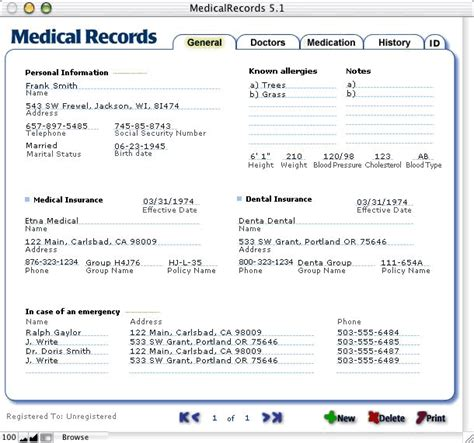 Hospital Records Record Software