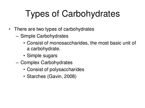 carbohydrates definition and importance carbohydrate presentation