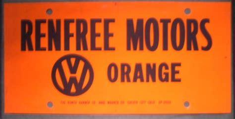 Orange Registration Sticker