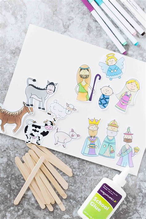 christmas story stick puppets  printable