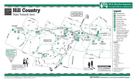map of texas state parks hill country texas state park facility and trail map hill country texas state park mappery