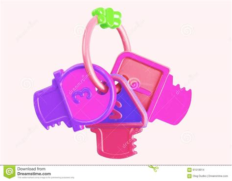 color purple play rattle stock photo image 61518914