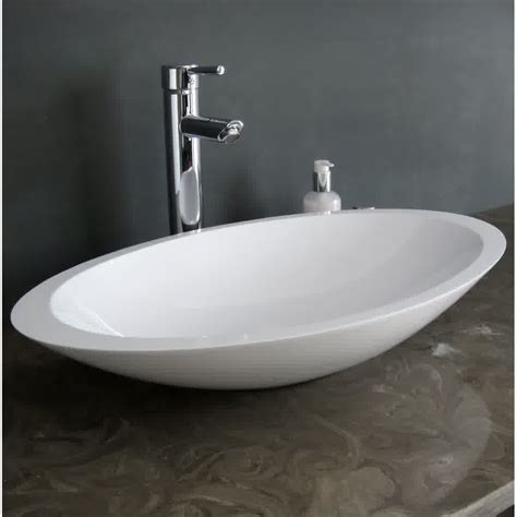 Solid Surface Bathroom Countertop And Sinks Options