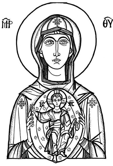 christian icon coloring pages icon of mary coloring pages 2 jpg 529 215 775 icon line