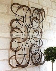 Outdoor mingling circles wall art decor plaque patio garden metal