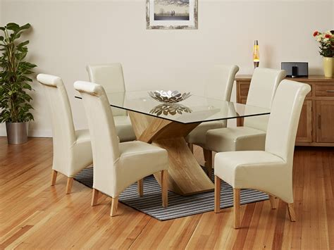 Glass Oak Dining Table Rounded Vs Rectangular Glass Dining Table Which One Is