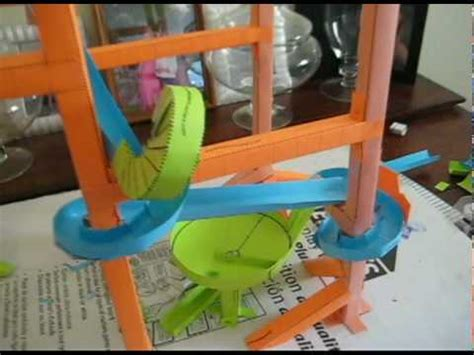 How To Make A Paper Roller Coaster Spiral - my marble run using paper roller coaster templates