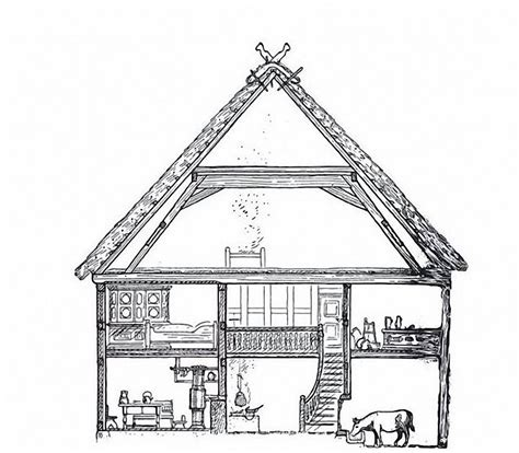 scheune gezeichnet bauernhaus
