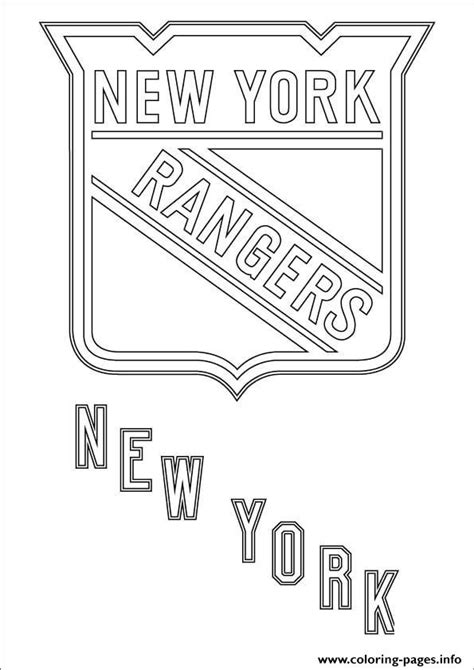 rangers hockey coloring pages new york rangers logo nhl hockey sport coloring pages