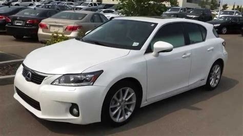 white lexus 2011 pre owned white on black 2011 lexus ct 200h fwd technology