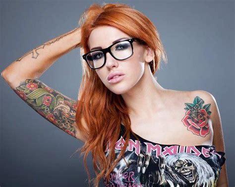 beautiful naked girls with tattoos sallie axl hair fair skin