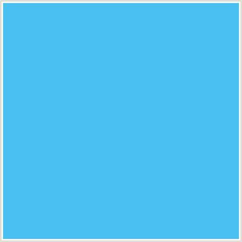 Light Blue Hex Code 4ac0f2 hex color rgb 74 192 242 light blue picton blue