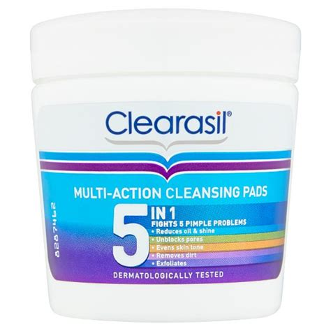 Tesco Detox Products by Clearasil Ultra 5in1 Cleansing Pads Tesco Groceries