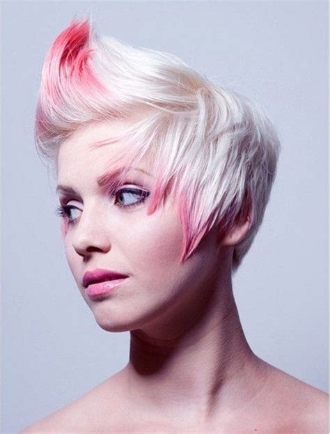 hairstyles with dyed ends short spiky hairstyles for females 2017 haircuts