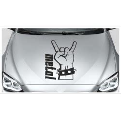 Hand Tattoo Aufkleber by Motorhauben Auto Aufkleber Tattoo Rock Hand Metal Musik